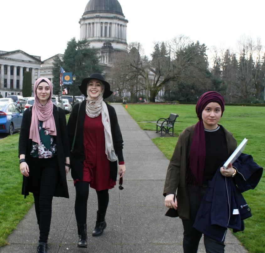 three hijabis at capitol.JPG