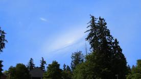 Andromeda Galaxy over daytime.