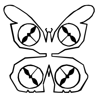 Monarch butterfly drone logo.